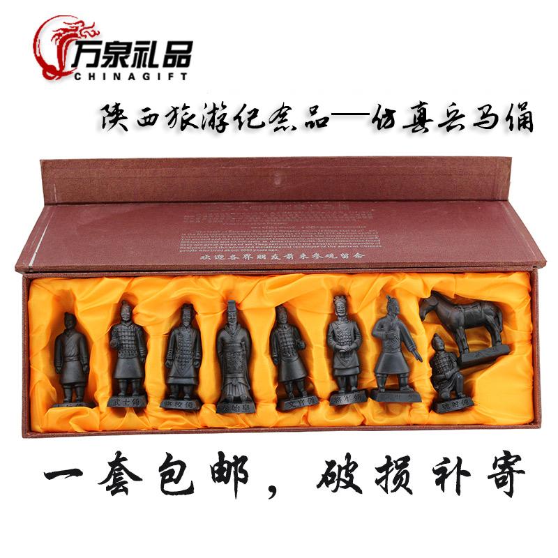仿古兵马俑 陕西西安旅游纪念品 中国风特色小礼品出国送老外礼物