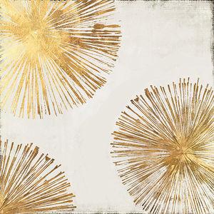 美式挂画客厅进门玄关壁画进口美式装饰画芯金色团花新中式新古典