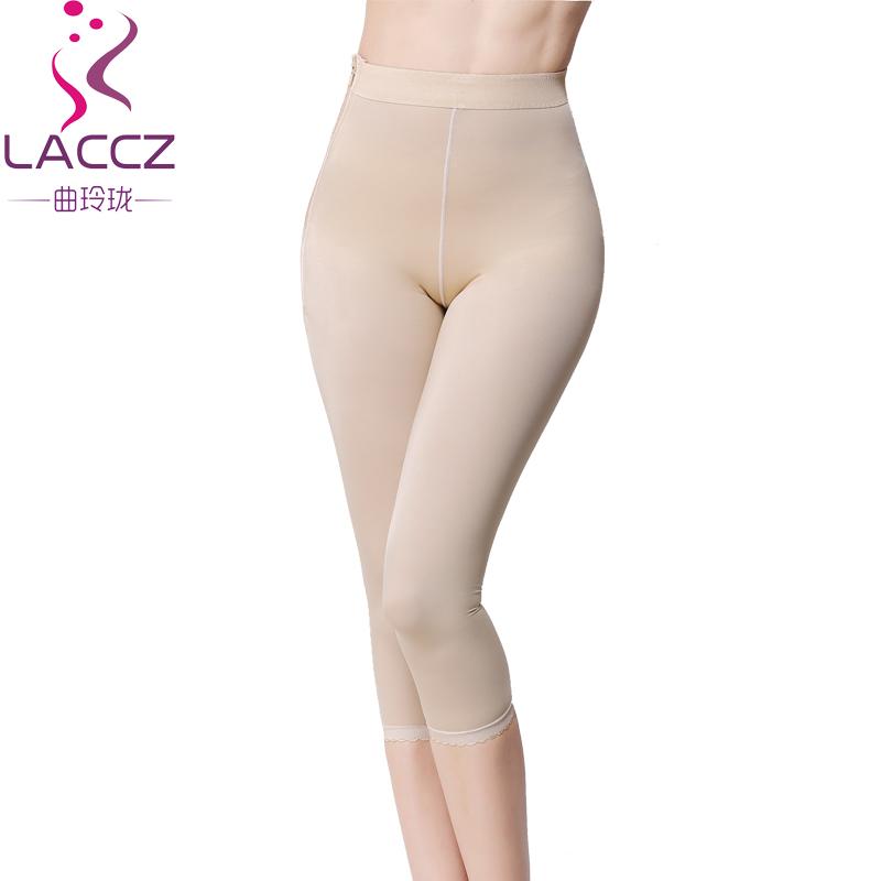 医用大腿吸脂抽脂中腰七分塑身裤产后收腹提臀塑身衣加压美腿裤薄