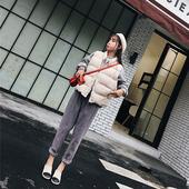 2017秋冬季新款韩版宽松棉衣马甲女短款学生bf棉服加厚面包服外套