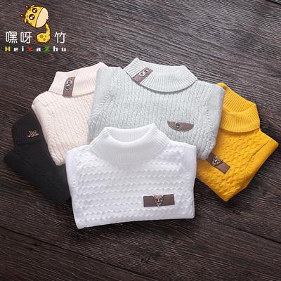 男童毛衣韩版2016新款百搭宝宝1-3岁潮婴儿童套头打底0小童高领2