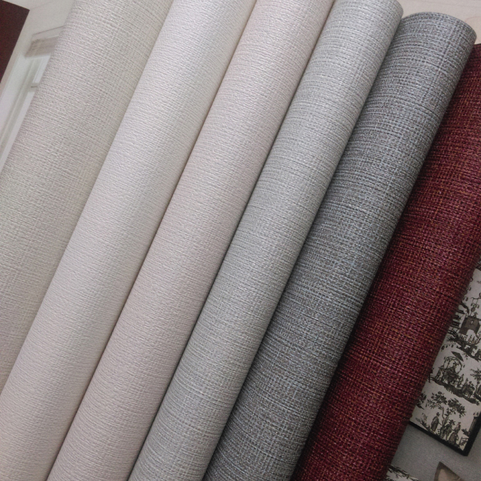 韩国壁纸墙纸 灰白浅肉粉白色浅灰酒红灰色净面纹理大卷 现货