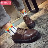 2016冬季新款韩版女鞋英伦学院风复古小皮鞋原宿学生百搭加绒女潮