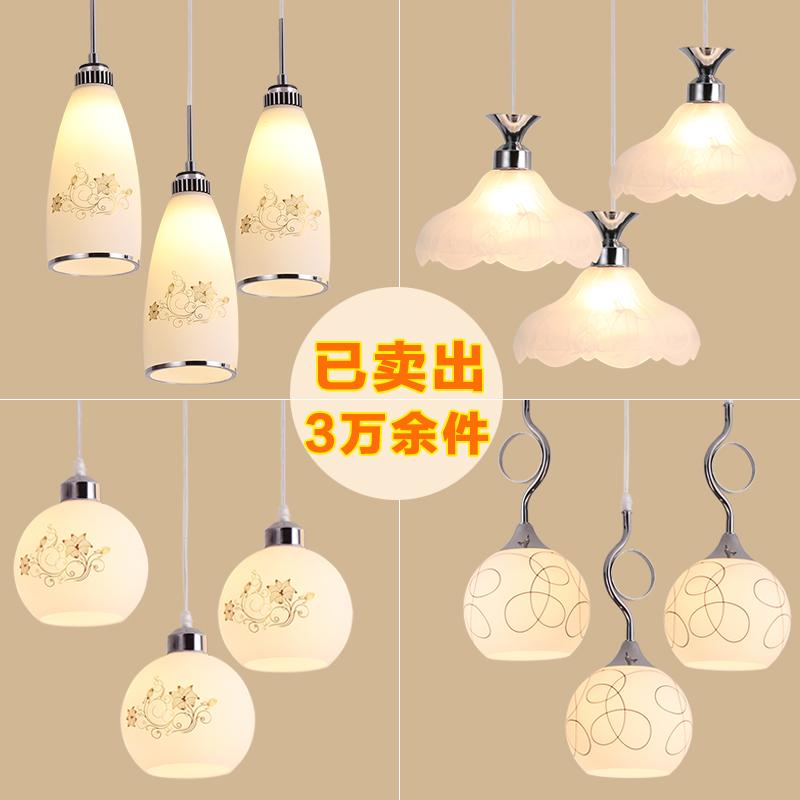 餐厅灯现代简约创意个性店铺吊灯三头饭厅家用大气餐桌饭店灯具