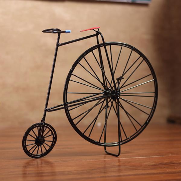 zakka杂货 怀旧老式自行车复古摆件创意装饰品做旧铁皮纯手工铁艺图片