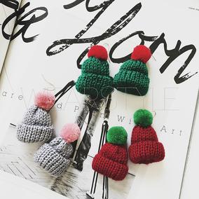 小帽子耳钉女时尚原创可爱耳挂新款创意新年耳环手工长款耳饰品Q