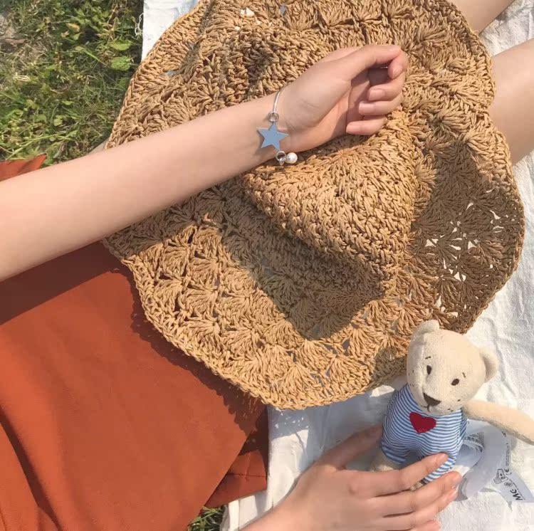 珍珠学生手环日手链饰品个性五角韩国简约星星手镯