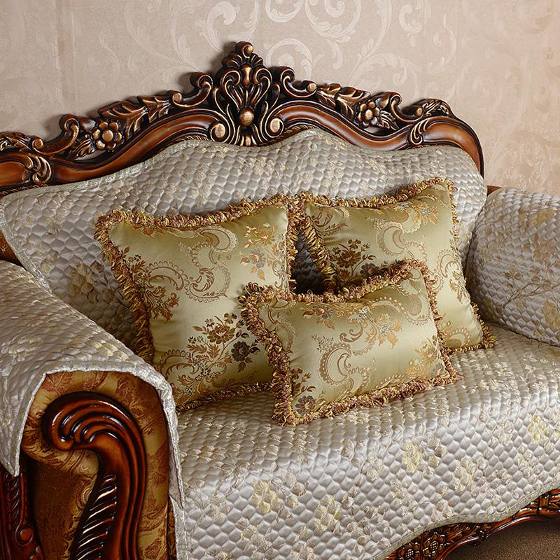 沙发金色抱枕欧式靠垫床头大靠背高档大靠枕含芯布艺