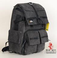 包邮国家地理 NGW5070 男女帆布休闲摄影包 双肩单反相机电脑背包