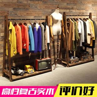 【特价】仿古做旧服装店展示柜欧式货架鞋子包中岛柜