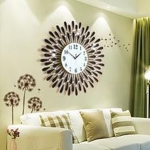 【天天特价】客厅挂钟个性创意钟表大 现代欧式静音石英时钟挂表