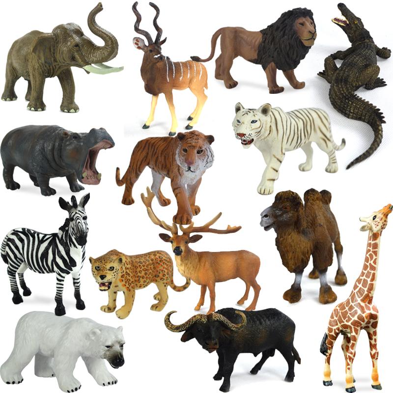 仿真动物模型仿真大象玩具野生动物世界老虎河马狮子