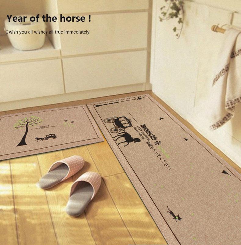 厨房专用地垫长条吸水防滑布艺垫子加长脚垫卧室客厅玄关踏垫地毯