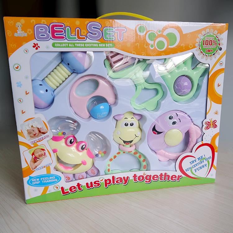 摇铃套装新生婴幼儿玩具礼盒早教益智儿童必备锻炼感官识别响铃