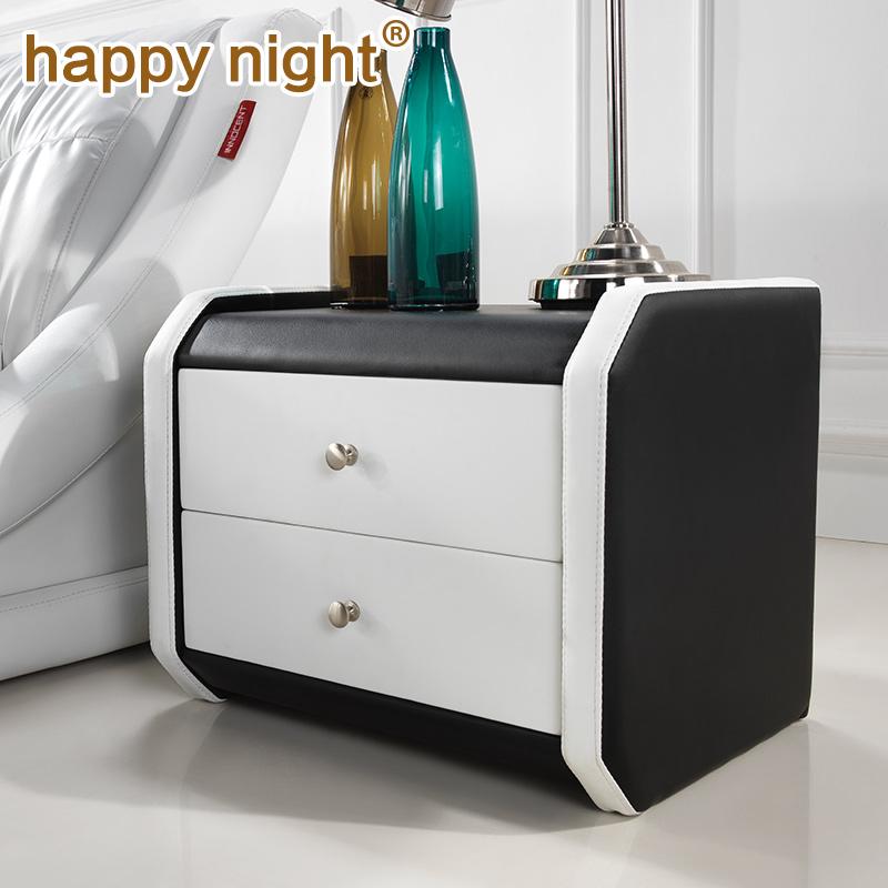 happynight 床头柜现代简约 欧式床头柜 斗柜  储藏柜床边柜特价