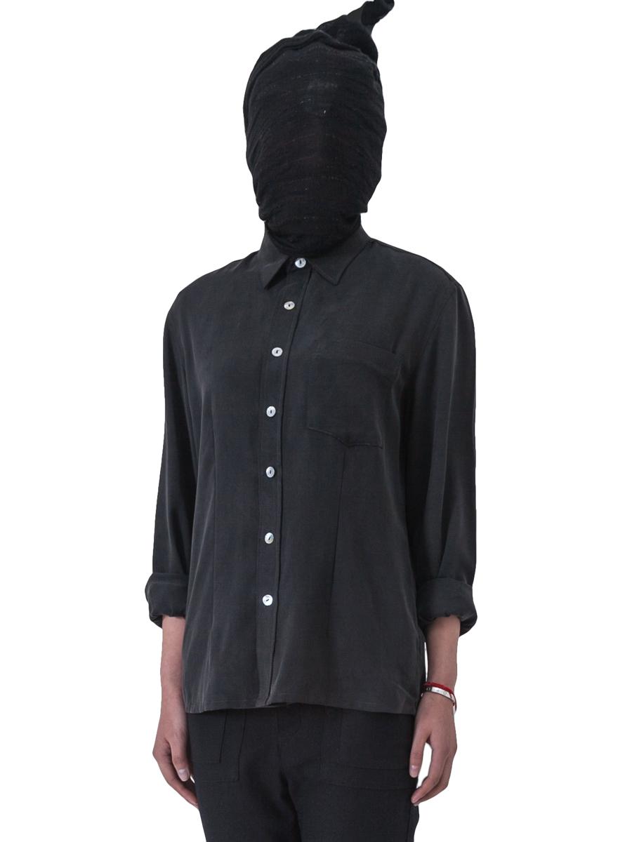 设计师简洁光版女款长袖衬衫  一点点OVERSIZE 文艺复古女装衬衫