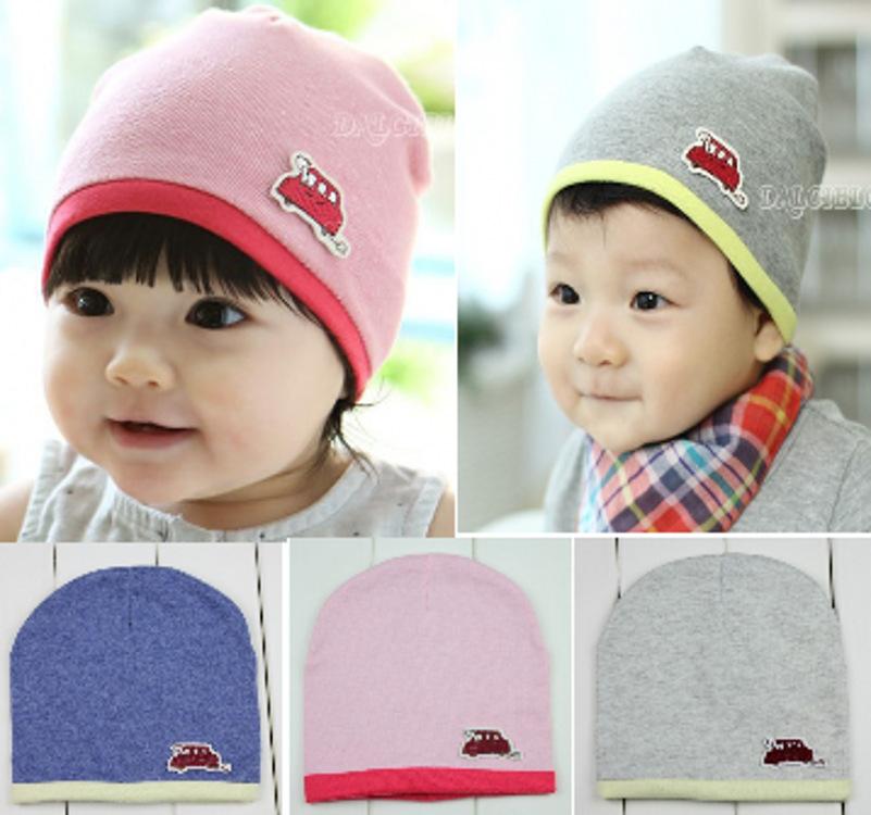 韩版春秋婴童帽套头帽 宝宝1-2岁可爱儿童帽子 卡通婴儿帽包邮