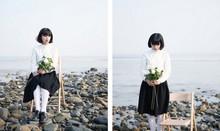 日本原单2014新款春装森女日系女士长袖衬衫简约韩版棉衬衣个性领