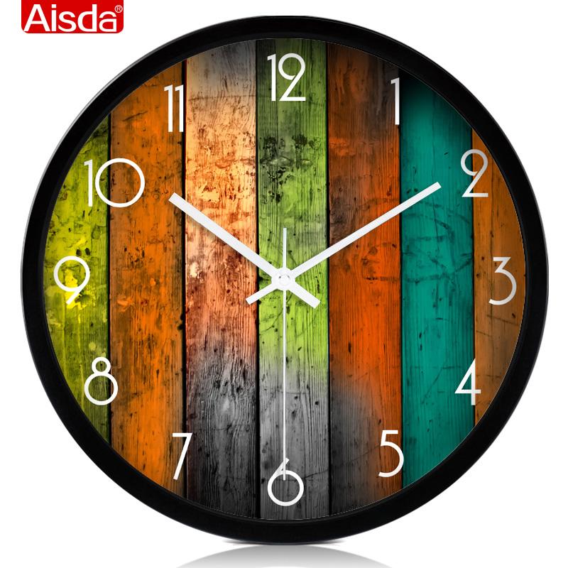 现代大号欧式钟表石英钟创意静音挂钟客厅时尚时钟个性挂表包邮