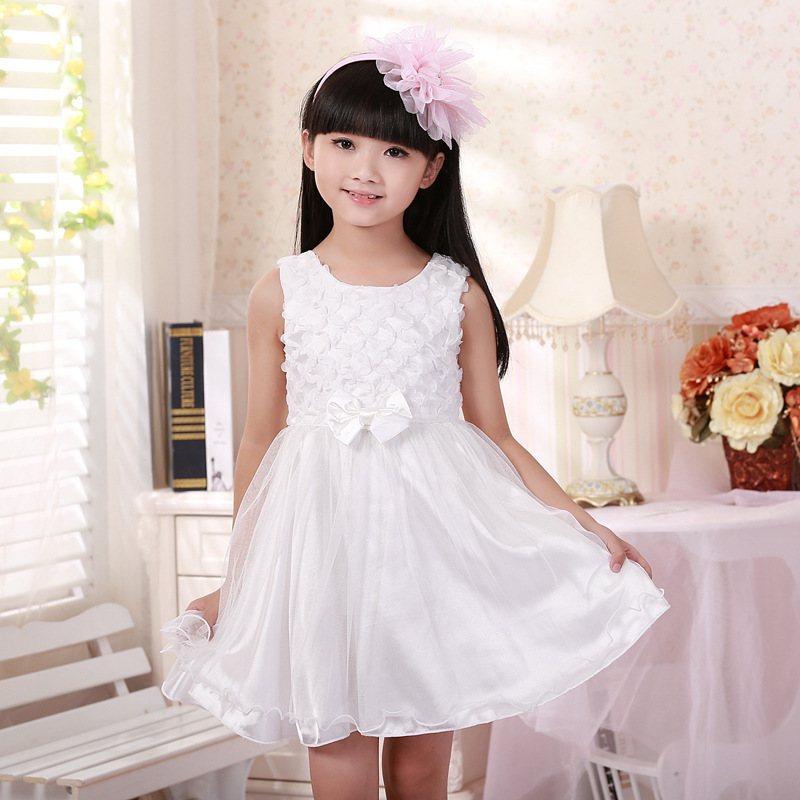 新款包邮2014韩版夏季小孩衣服公主裙儿童连衣裙子女中大淑女童装