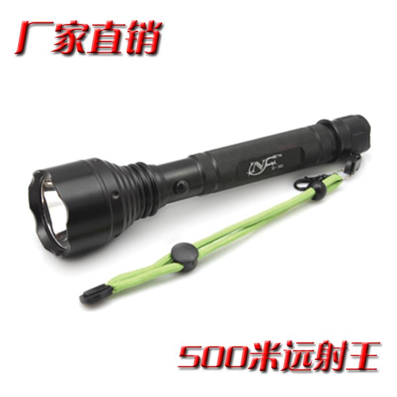 正品远射王强光手电筒正品进口cree led充电户外巡逻防爆打猎家用