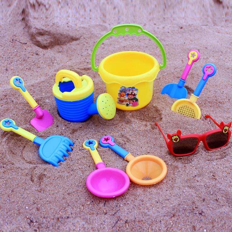 儿童沙滩玩具套装玩水挖沙决明子洗澡沙滩迷你9件套