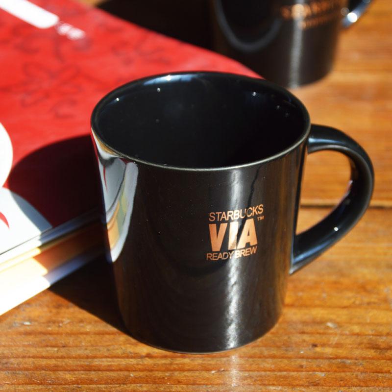 星巴克via速溶咖啡杯 2014正品限量 创意陶瓷杯子 水杯 马克杯