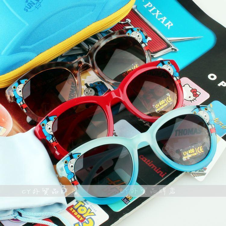 2014新款托马斯和朋友们儿童抗紫外线太阳镜男童大小孩宝宝墨镜