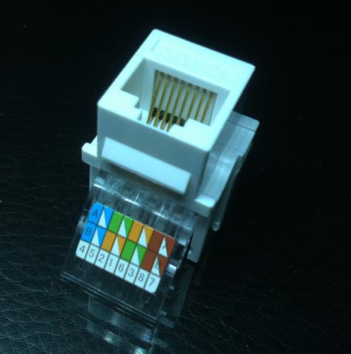 AMP超五类网络模块 AMP免打模块 安普免打模块CAT5E免打网l络模块