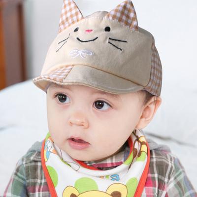 包邮婴儿帽子0-3-6个月春夏男女新生儿帽子韩版遮阳帽婴儿鸭舌帽