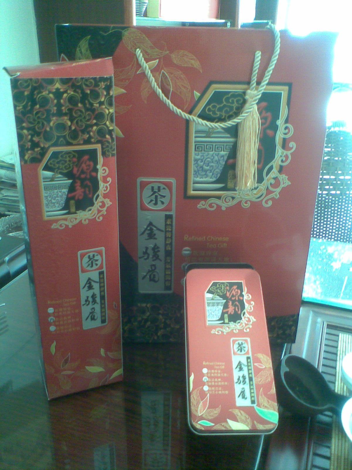礼盒装金骏媚、茶广缘茶叶、批发金骏眉顶级茶叶500g!送礼佳品
