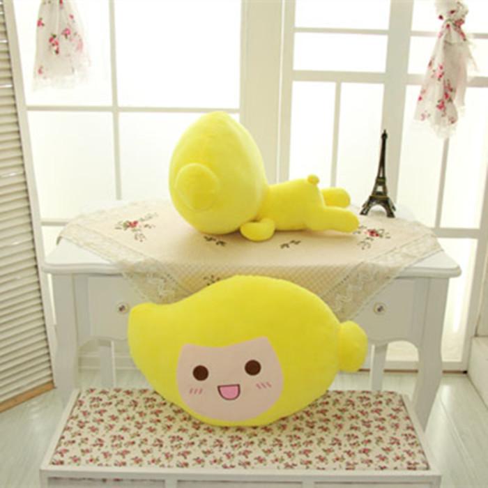 可爱卡通芒果水果公仔靠垫抱枕毛绒布艺类玩具公仔娃娃玩偶