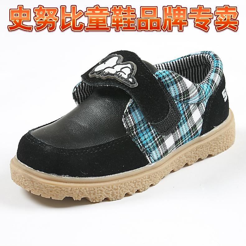 2014秋冬Snoopy/史努比男童加棉皮鞋男童牛仔棉鞋帅N82216