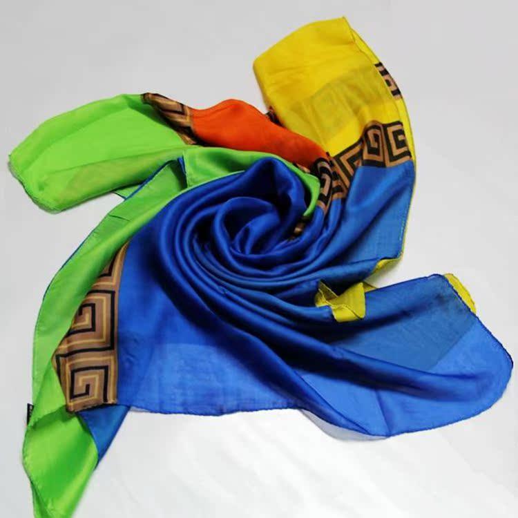 2014新款大品牌印花高品质丝巾雪纺围巾大方巾魅力中国风披肩正品