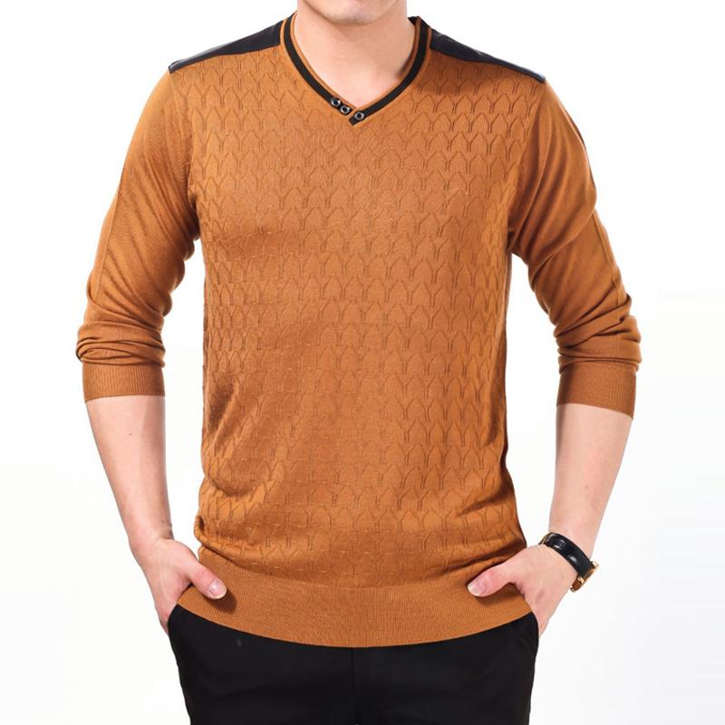 2014秋季新款男装正品商务休闲V领纯色羊毛衫青年时尚针织衫j662