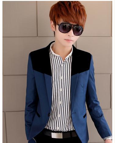 新款男装春秋潮男士小西服韩版修身型男版小西装休闲英伦外套