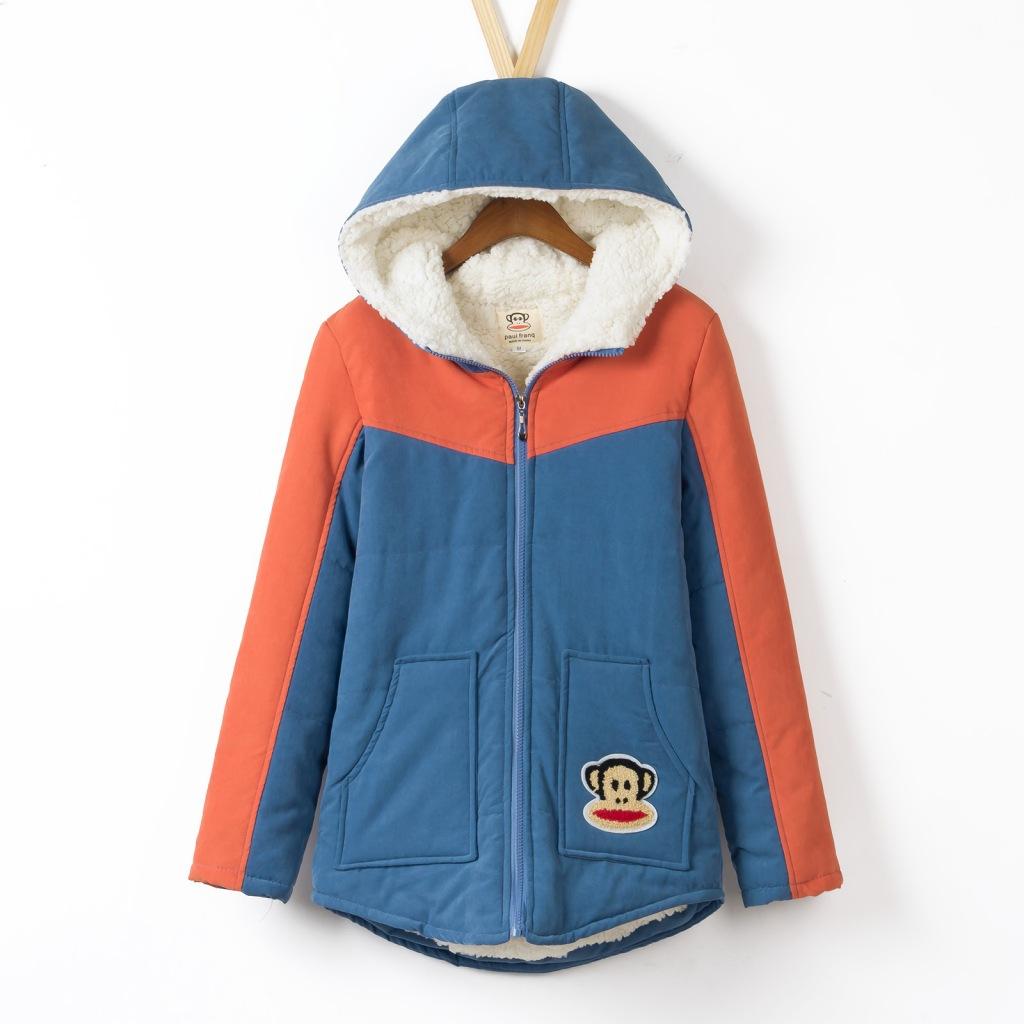 孕妇冬装外套韩国孕妇胖MM大码棉衣装韩版连帽冬装羊羔绒棉袄上衣