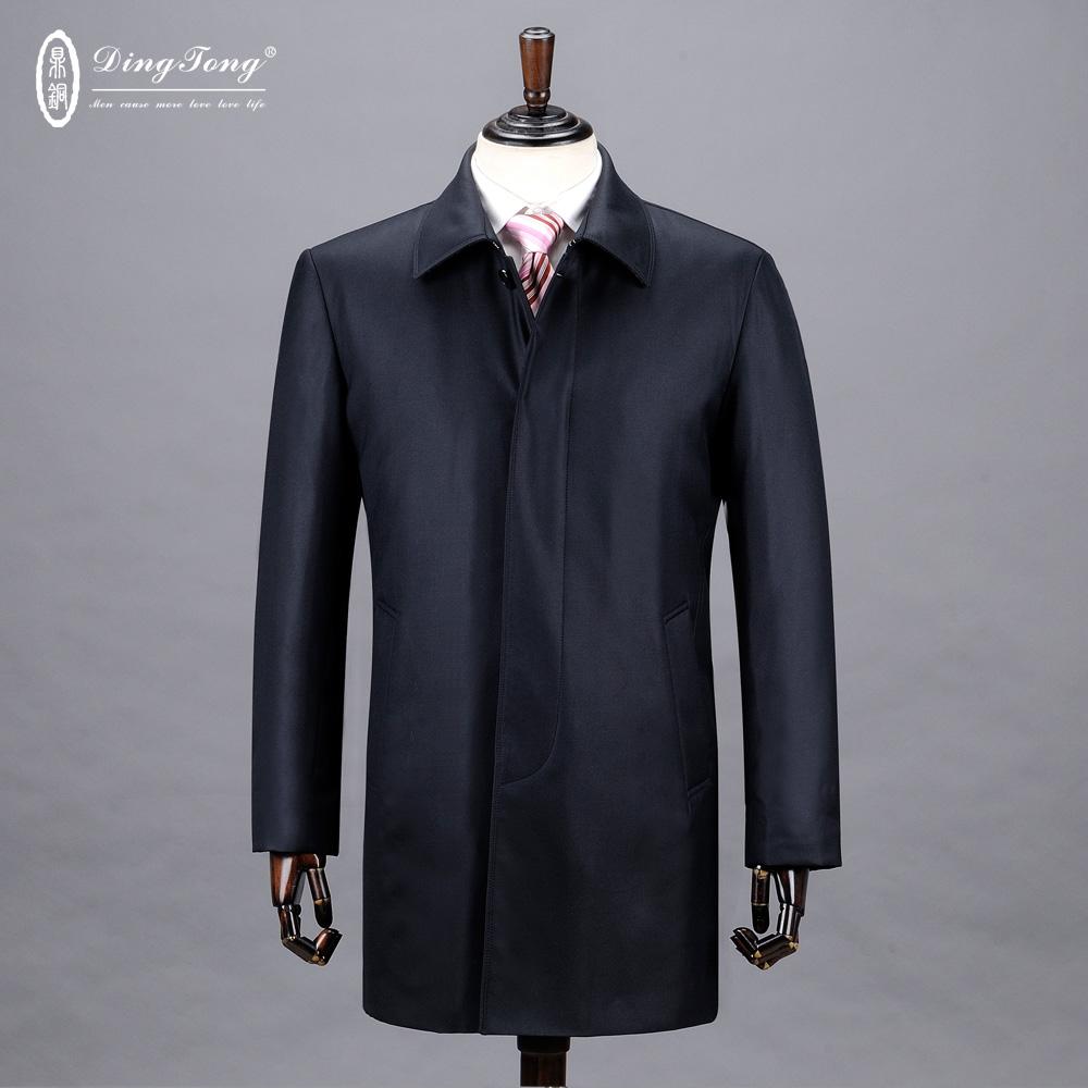 鼎铜服饰/高端奢华桑蚕丝修身羽绒服 90%白鸭绒高端男装保暖外套