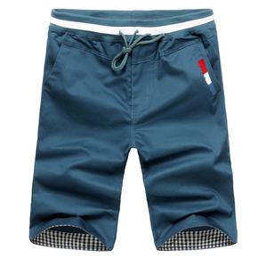 REFUO2015男士休闲短裤男潮韩版中裤夏季五分裤沙滩裤大码宽松