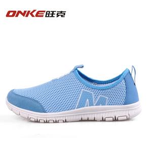 夏季透气鞋男女鞋网鞋跑步鞋网面运动鞋一脚蹬网布旅游鞋情侣鞋