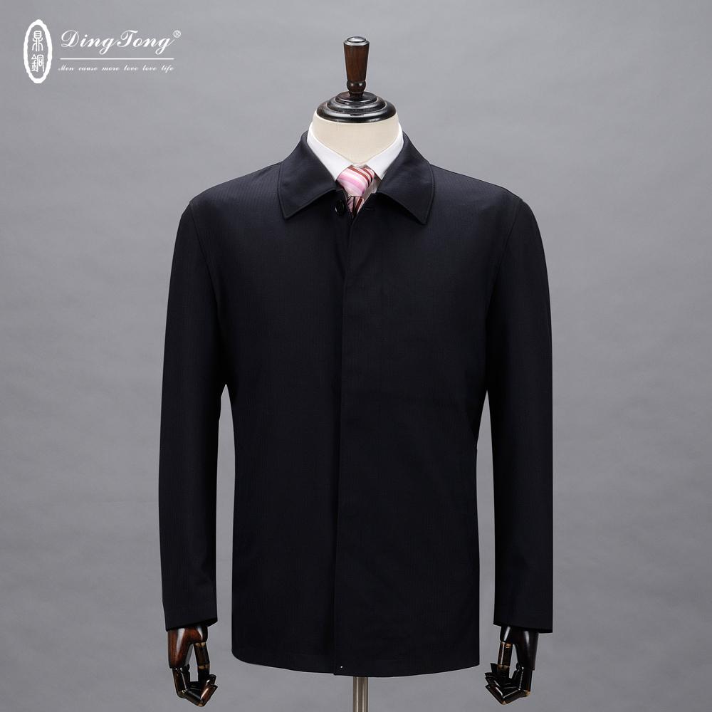 鼎铜折扣高档羊毛夹克 中年男装商务羊毛绒夹克 高端男士外套上衣