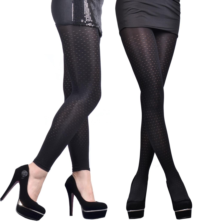 俊超350D天鹅绒圆点黑色显瘦提花连裤袜春秋款打底丝袜子厂家批发