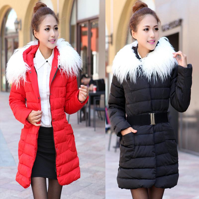 2014韩版女式中长款修身女装 羽绒服棉衣 棉服修身显瘦