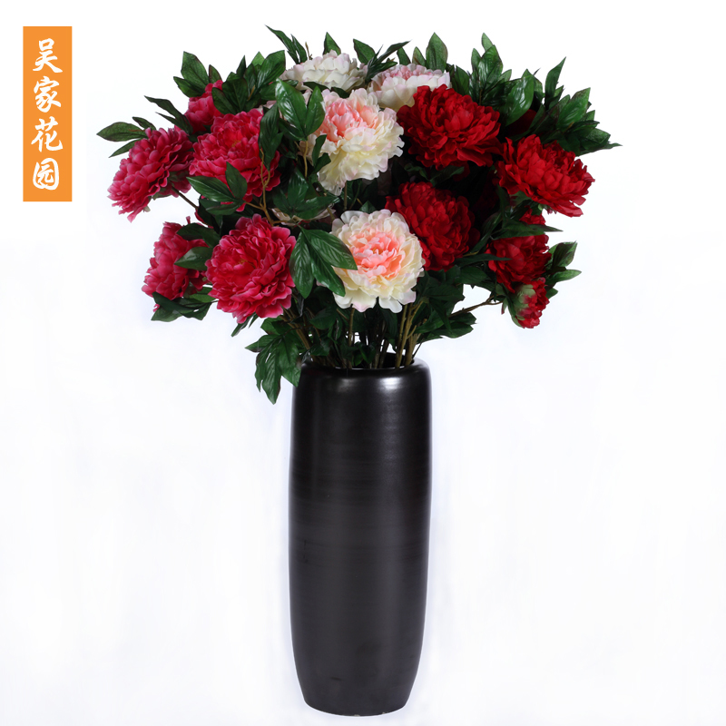特价 3头仿真大牡丹花 绢花牡丹 仿真花绢花假花客厅装饰花落地花