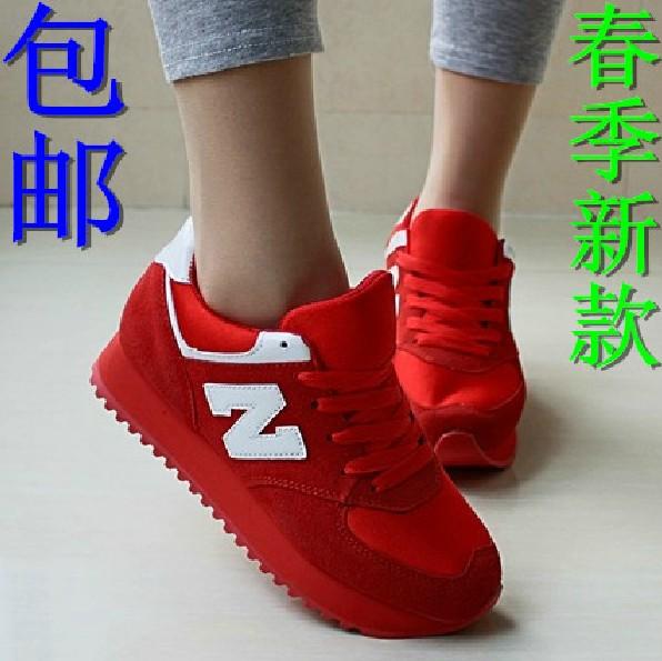 夏季韩国n字母韩版潮阿甘休闲厚底运动鞋跑步鞋低帮鞋女单鞋旅游