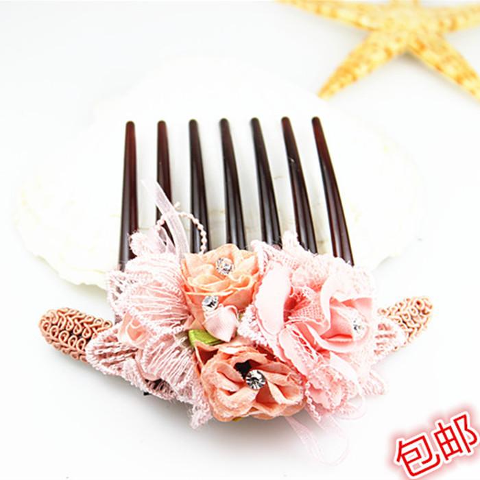 韩式新款七齿发梳发插插梳梳子盘发发插七齿梳造型发插花型发梳