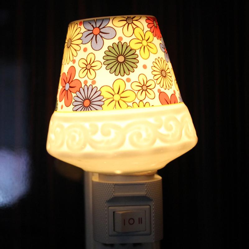 潮州陶瓷插电节能环保小夜灯床头灯儿童护眼灯批发价宝宝房夜灯