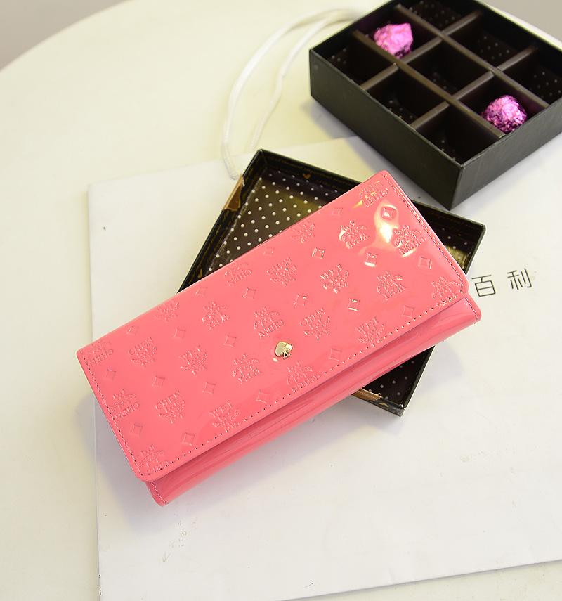 女士包长款钱包韩版潮糖果色甜美淑女字母压花手拿包钱夹卡套包邮