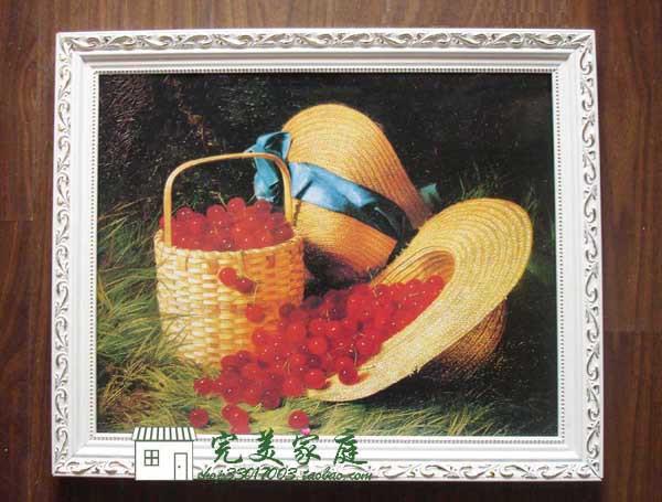 ◥◣特价特价◥◣425 樱 实木装饰画 有框画 油画 板画 中小号