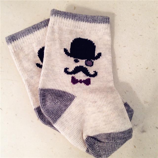 童装童袜 儿童袜子G ap官网同款男童胡须帽子男纯棉运动袜地板袜